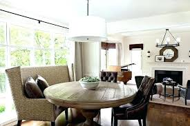 round dining table with bench seating room benches upholstered for curved up