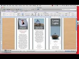 make tri fold brochure how to create a tri fold brochure mp4 youtube