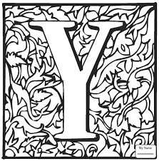 english alphabet with ornaments letter y with ornament letters and alphabet  coloring pages