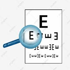 Blue Magnifying Glass And Eye Chart Public Medical Gadget