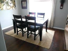 dining room rug size cowhide rug dining table rug under dining room table on carpet round