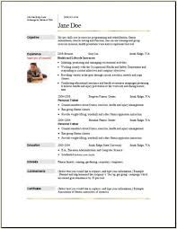 sports resume sample