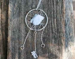 Wire Wrap Dream Catcher Tutorial Make a Statement Dreamcatcher Necklace with Stones and Wire 12
