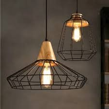 industrial lighting fixtures vintage. Amazing Loft Style Wood Droplight Edison Pendant Light Fixtures Vintage Industrial Lighting For Dining Room Antique Hanging Lamp With A