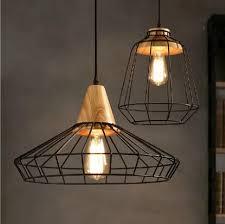 industrial lighting fixture. Amazing Loft Style Wood Droplight Edison Pendant Light Fixtures Vintage Industrial Lighting For Dining Room Antique Hanging Lamp With Fixture