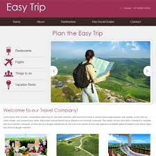 Easy Website Templates Delectable Easy Trip Web And Mobile Website Template For Free W28layouts Easy