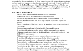 Beverage Server Sample Resume Executive Associate Sample Resume