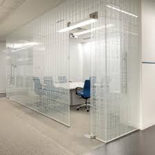 tempered glass panel safety patterned for partition walls cantilever by suzanne tick