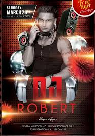 psd flyer templates to make use of offline marketing dj robert club and party flyer psd template