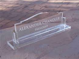 engraved desk name plates glass hostgarcia throughout glass name plate for desk real wood home office furniture