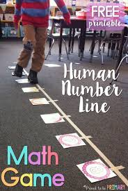 Human Number Line Math Game | Kids moves, Free math and Math facts
