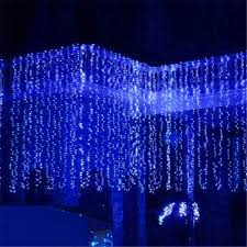 Us 17 42 30 Off New Year 3m X 3m 300 Led Christmas Lights Outdoor Decoration Fairy Wedding Curtain String Luces De Navidad Luci Di Natale White In