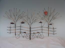 zoom on bike wall art metal with bikes and trees metal sculpture bike wall decormetal