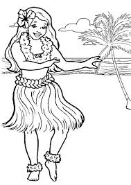 Small Picture Online Hula Girl Coloring Page 40 For Your Coloring Pages for Kids