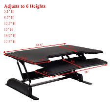 Ergonomic Computer Desk 6 Level Height Adjustable Ergonomic Sit Stand Computer Desk