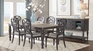rectangle dining room tables. cindy crawford home coastal breeze charcoal 5 pc rectangle dining room - sets colors tables :