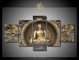 5 pieces set buddha canvas painting hd printed on canvas painting for living room wall on buddha wall art metal with 5 pieces set buddha canvas painting hd printed on canvas painting