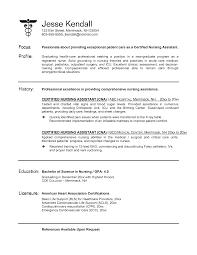 Resume Templates Cna Positions Sample Of Cna Nursing Assistant