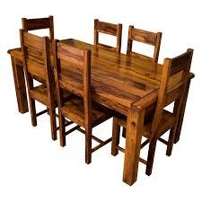 Samri Sheesham Dining Table & Six Chairs Solid sheesham wood