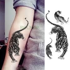 водостойкая временная татуировка наклейка тигр животное временная