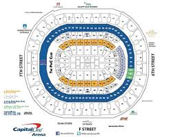 Capital One Arena Seating Chart Basketball 58 Competent Capitals Seating Chart With Rows