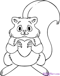 Small Picture How to Draw a Squirrel Step by Step Cartoon Animals Animals