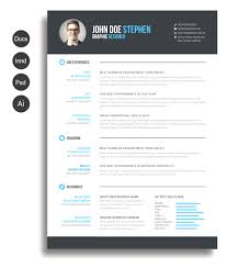 Free Downloadable Resume Templates For Word Modern Graphicriver Resume Template Free Download Resume Resumes 2