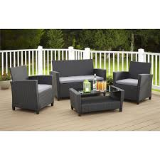 cosco outdoor malmo piece resin wicker patio conversation set