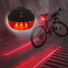 WasaFire LED <b>Bike Taillight</b> 5 LED+2 Laser <b>Bicycle</b> Light <b>Night</b> ...