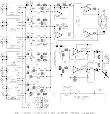 schematic wiring diagram audio mixer 6 channel circuit audio mixer 6 channel circuit