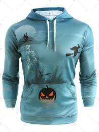 <b>Halloween Pumpkin Print Drawstring</b> Hoodie | Drawstring hoodie ...