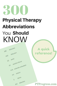 Common Medication Abbreviations Chart Common Physical Therapy Abbreviations