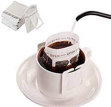 Keurig family reusable refillable coffee filters. Amazon Com 50pcs Coffee Filter Paper Bag Hanging Ear Drip Coffee Bag Single Serve Disposable Drip Coffee Filter Bag Perfect For Travel Camping Home Office Kitchen Dining