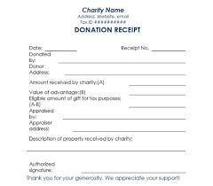 16 Donation Receipt Template Samples Templates Assistant