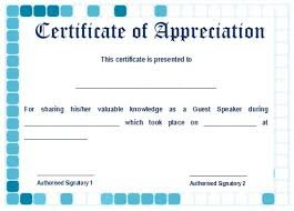 12 Genuine Samples Of Certificate Of Appreciation For Guest