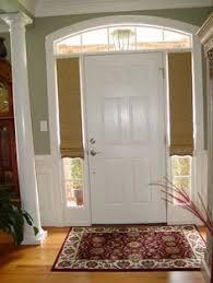 sidelights for front doorsPlantation shutters for sidelights on front door  For the home