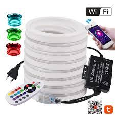 RGB LED Neon Dải Ánh Sáng WiFi Điều Khiển Từ Xa 1500W LED Dẻo Băng Ngoài  Trời Chống Nước Neon Ký Dây Ruy Băng 110V 220V 1 100M|Dải Đèn LED