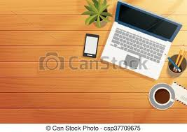 office desk top view. Wonderful Top Top View Office Wooden Desk In Morning  Csp37709675 And Office Desk Top View