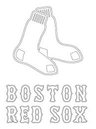 Small Picture Boston Red Sox Logo coloring page Free Printable Coloring Pages