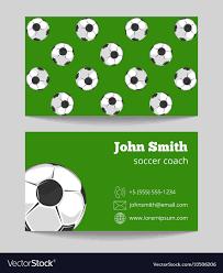 Soccer Business Card Soccer Green Field Business Card Template