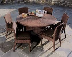 patio round patio table and chairs patio dining sets on impressive brown wicker round
