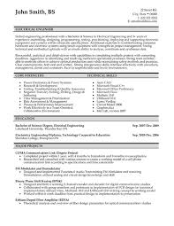 Electrical Engineering Sample Resumes Electrical Engineer Resume Sample Template
