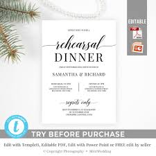 dinner template rustic rehearsal dinner invitation template printable modern wedding dinner edit with power point instant download templett rd7