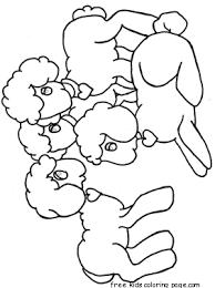 Lammetjes Schapen Zelf Gemaakt Easter Coloring Pages Coloring