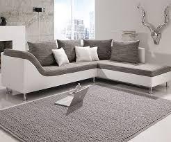 Details Zu Ecksofa Philip Wohnlandschaft Couch Sofa Mit Ottomane Strukturstoff Grau