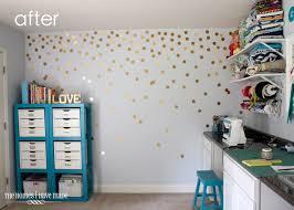 diy gold polka dot wall the homes i have made background dots transpa gold polka