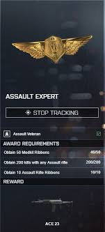 can someone explain this assignments not getting registered  i ve collected 51 medkit ribbons according to the awards page but the assignment assault expert only says i got 46