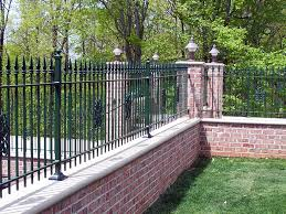 wrought iron fence brick. Tremendous Brick Iron Fence Designs Wrought 8