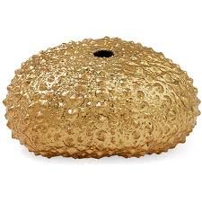 Seaside Decorative Accessories 100Kt GoldPlated Green Sea Urchin Large Coral Barnacles Shells 58