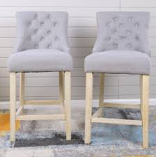 counter height chairs set of 2.  Counter Highland Dunes Loksa Contemporary Grey Fabric Button Tufted Counter Height  Stools Set Of 2  Wayfairca Inside Chairs Of